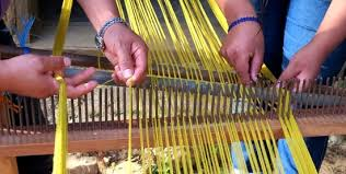 Oaxaca – the khadi being woven in a Mexico village