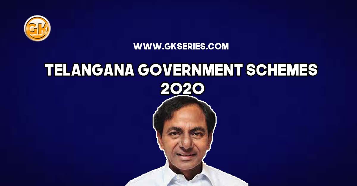 Telangana Government Schemes 2020