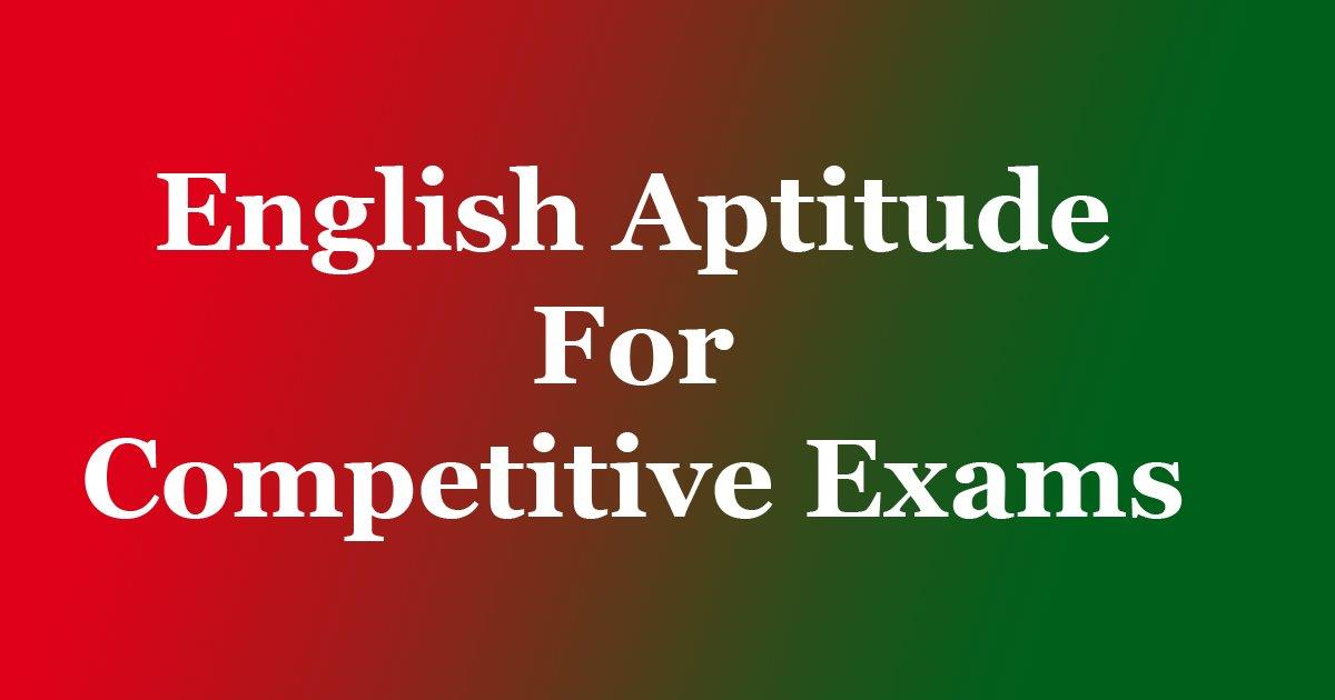 One Word Substitution - English Aptitude Multiple Choice