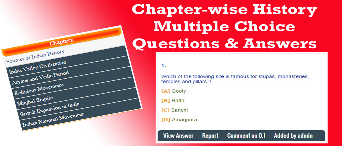 Chapter-wise History Multiple Choice Questions(MCQs) and