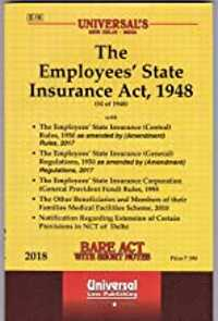 employee state insurance act 1948 book