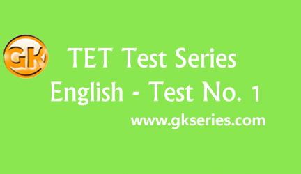 TET Test Series – English Test 1