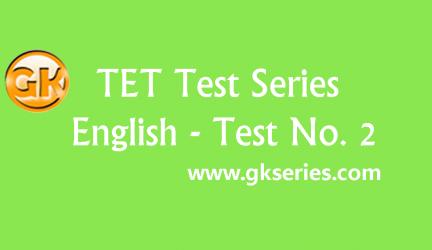 TET Test series – English Test 2