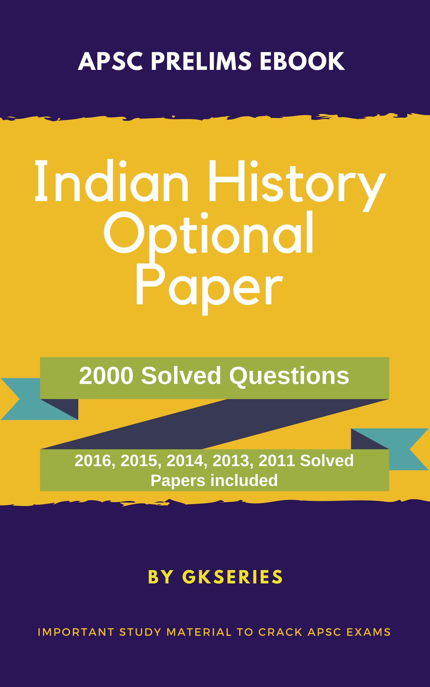 apsc prelims indian history optional subject ebook