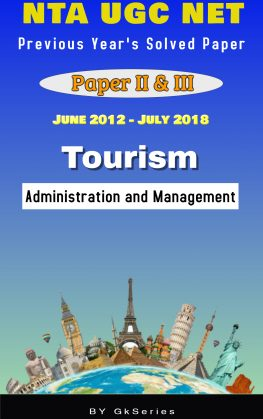 NTA UGC NET TOURISM ADMINISTRATION PREVIOUS YEARS SOLVED PAPERS