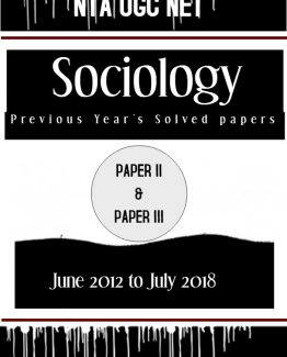 NTA UGC NET SOCIOLOGY PREVIOUS YEARS SOLVED PAPERS