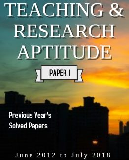 Teaching and Research aptitude Previous Year's Solved Papers E-Book for NTA UGC NET Examination