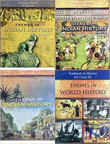NCERT History Class 11,12 (1+3) Books Set English Medium