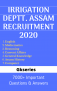 IRRIGATION Department Assam Recruitment 2020 EBOOK – 7000+ Solved Questions